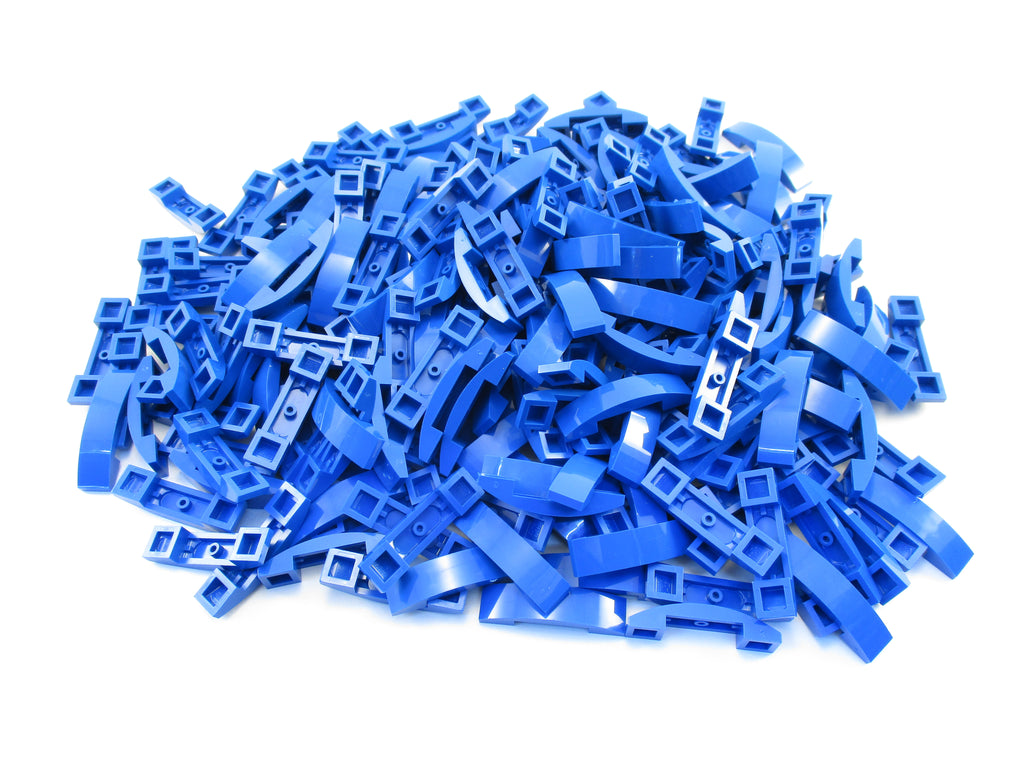 LEGO Blue Slope Curved 4x1 Double No Studs Lot of 100 Parts Pieces 93273