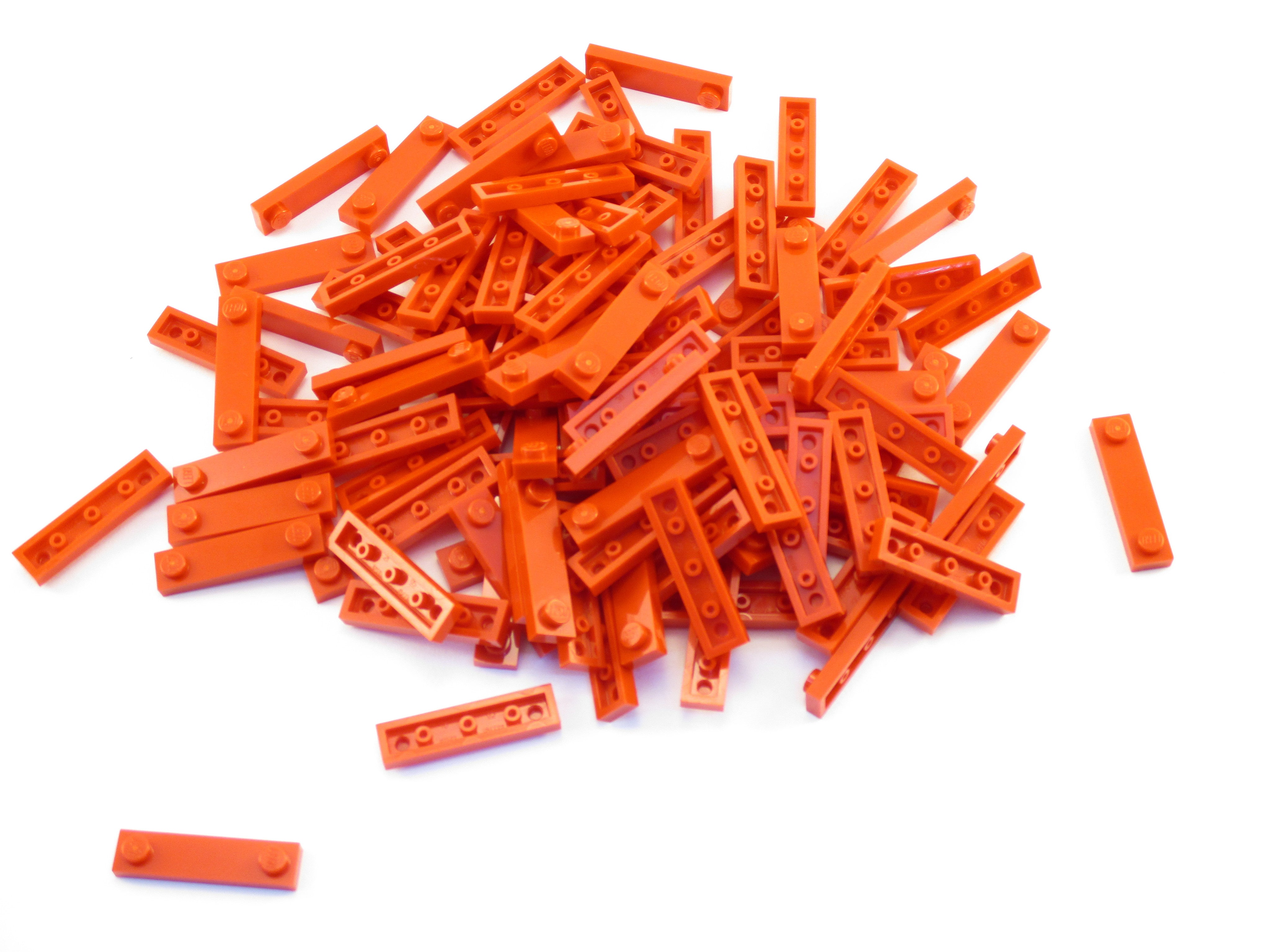 LEGO Magenta Plate Modified 1x4 2 Studs Lot of 100 Parts Pieces 92593