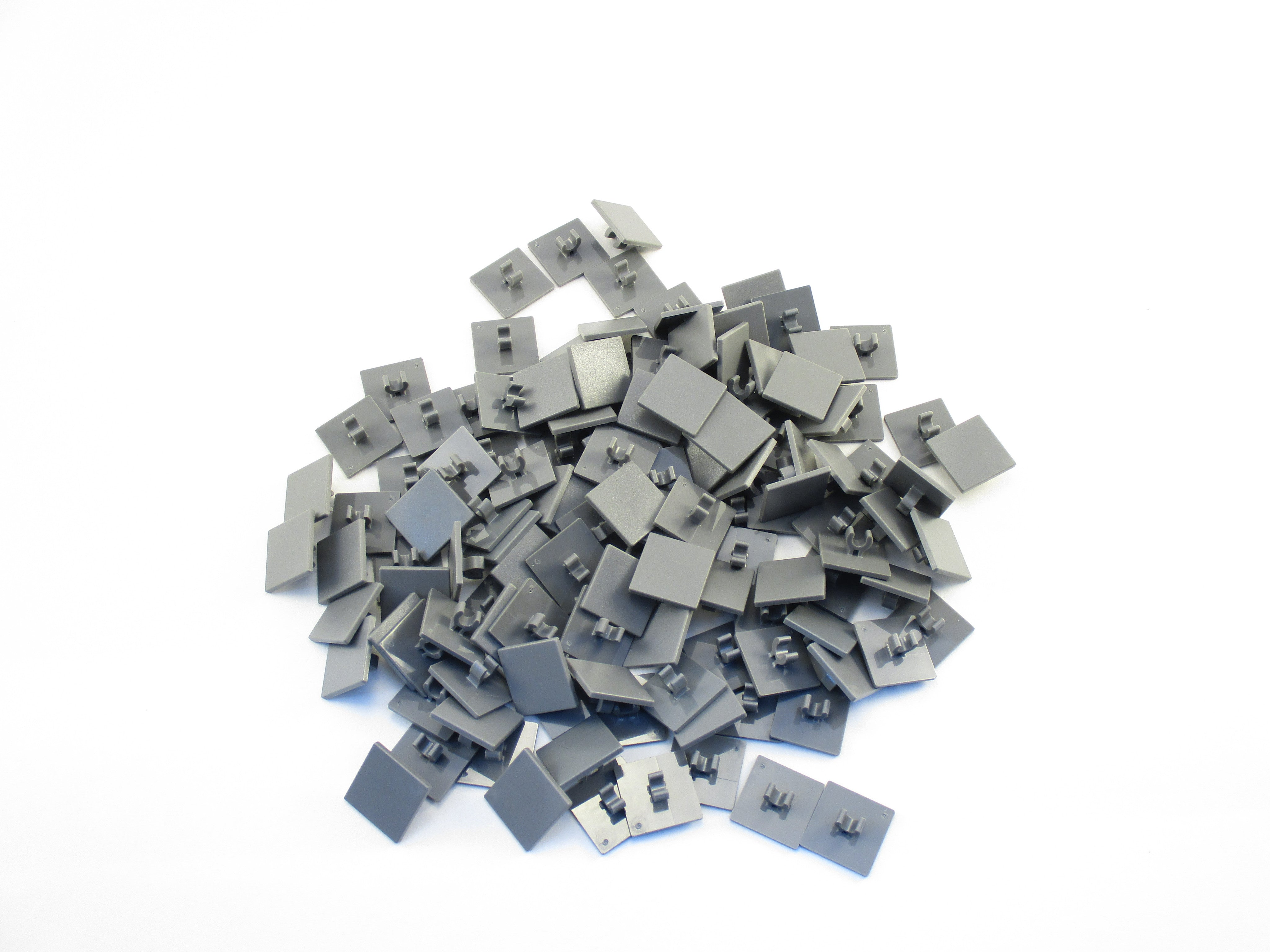 LEGO Dark Bluish Gray Road Sign Clip On 2x2 Square Lot of 50 Parts Pieces 15210