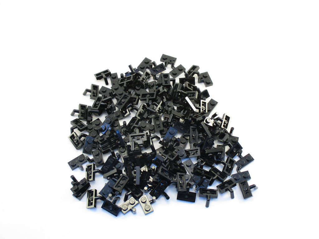 LEGO Black Plate Modified 1x2 with Arm Up Lot of 100 Parts Pieces 88072