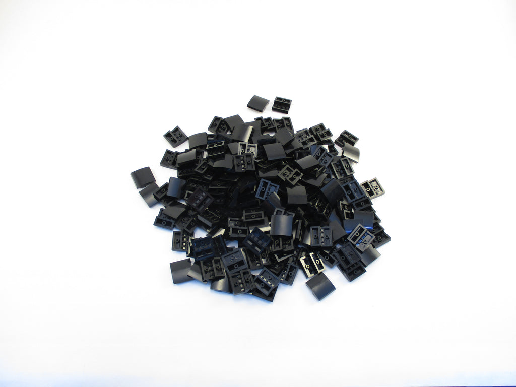LEGO Black Slope Curved 2x2 No Studs Lot of 100 Parts Pieces 15068