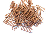 LEGO Reddish Brown Bar 7x3 Double Clips Ladder Lot of 50 Parts Pieces 6020