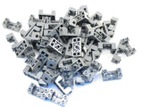 LEGO Dark Bluish Gray Technic Brick 2x4x1 1/3 with Holes 2x2 Cutout Lot of 25 Parts Pieces 18975
