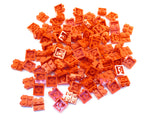 LEGO Red Plate Modified 2x2x2/3  2 Studs on Side Lot of 100 Parts Pieces 99206