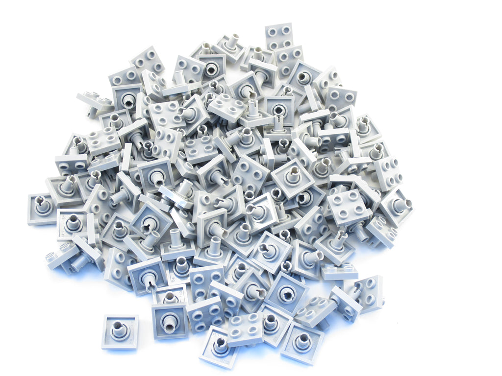 LEGO Light Bluish Gray Plate Modified 1x2 Pin Hole Bottom Lot of 100 Parts 18677