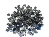 LEGO Black Plate Modified 1x2 Clips Horizontal Lot of 100 Parts Pieces 60470b