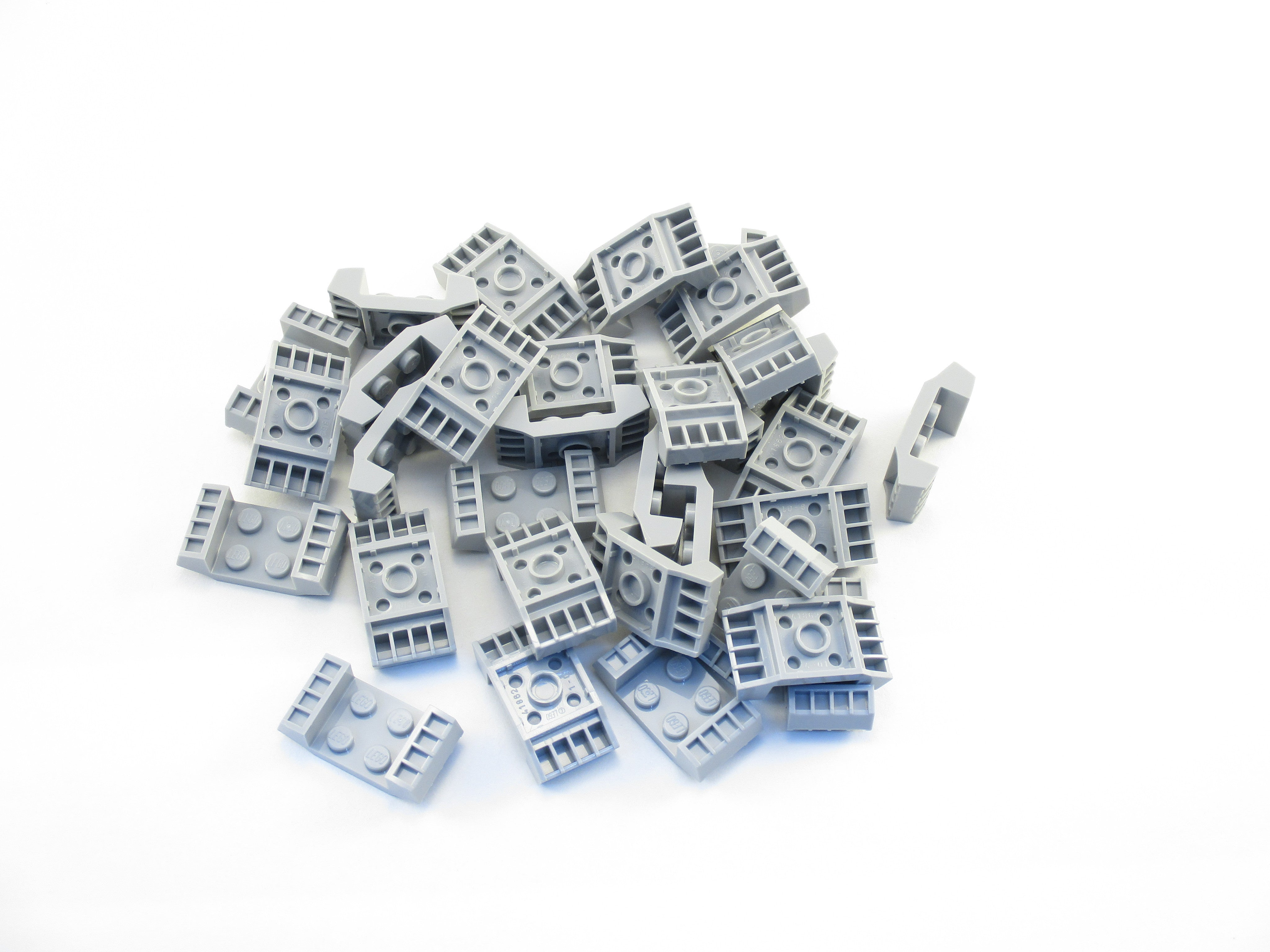LEGO Light Bluish Gray Plate Modified 2x2 with Grills Lot of 25 Parts Pieces 41862