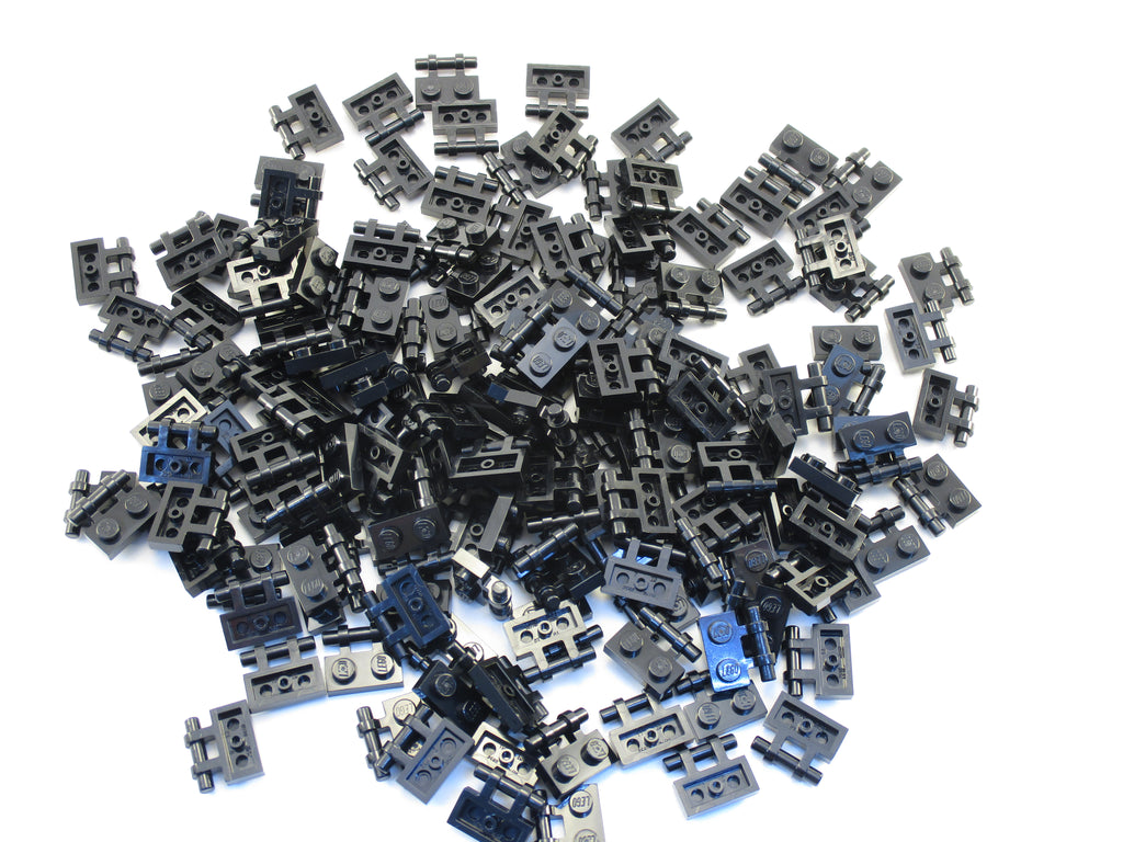 LEGO Black Plate Modified 1x2 Handle on Side Free Ends Lot of 100 Parts Pieces 2540