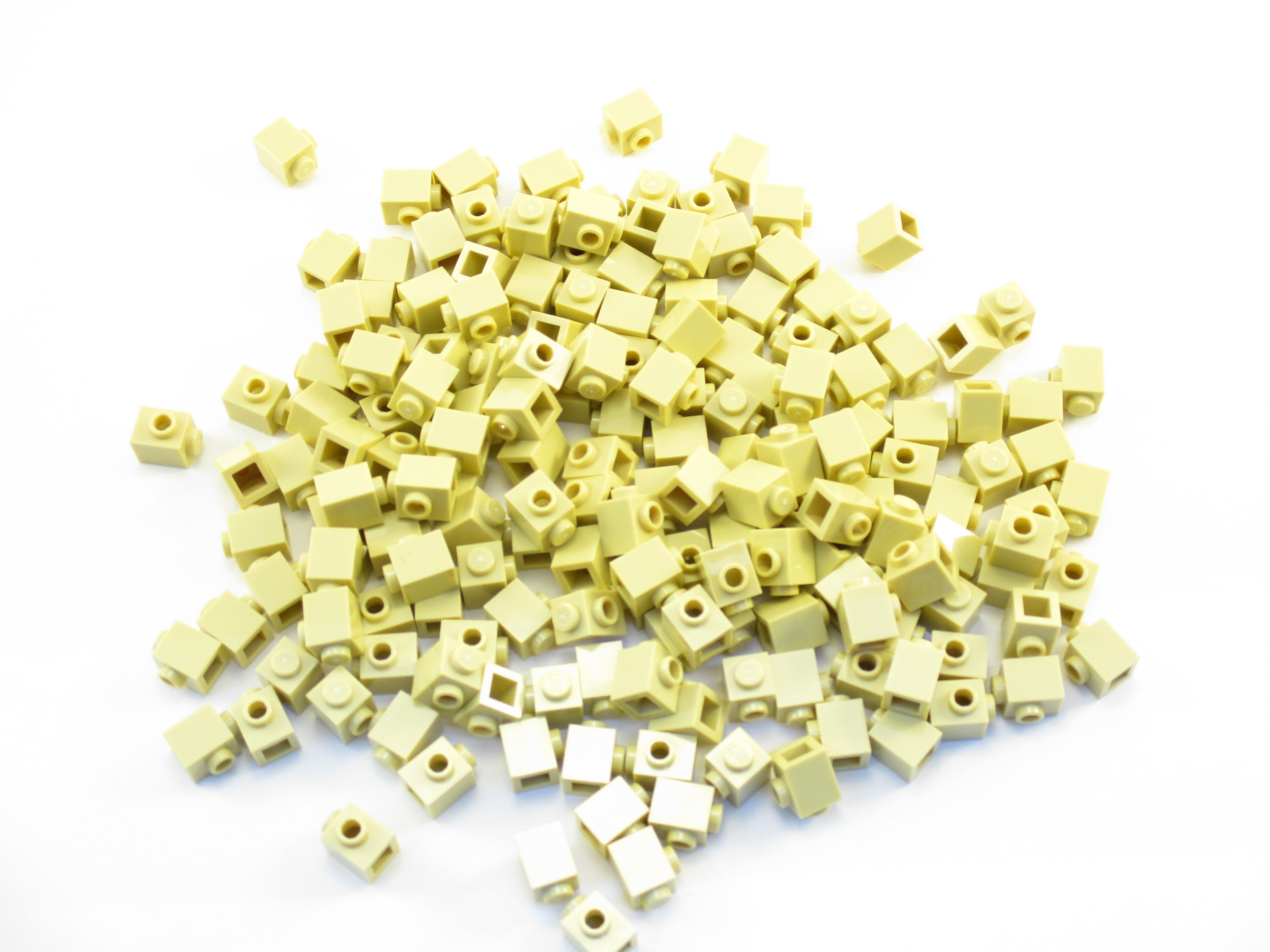 LEGO Yellow Brick Modified 1x1 with Stud 1 Side Lot of 100 Parts Pieces 87087