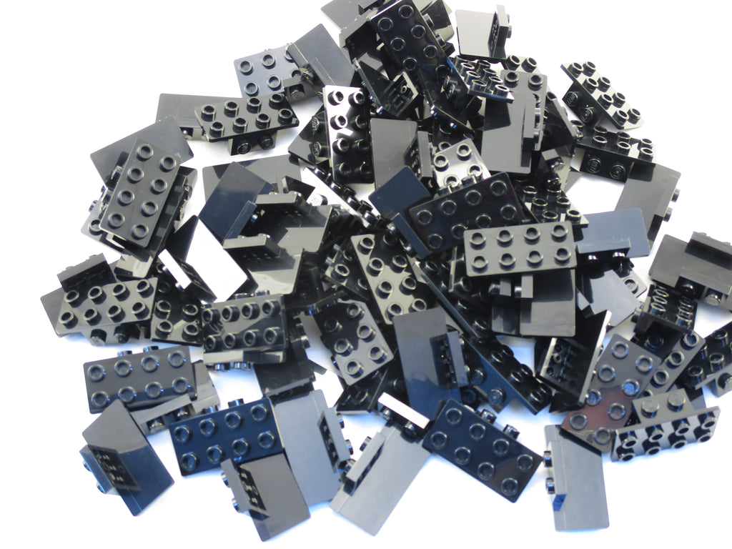 LEGO Black Bracket 1x2 - 2x4 Lot of 50 Parts Pieces 93274