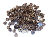 LEGO Dark Brown Plate Round 2x2 with Axle Hole Lot of 100 Parts Pieces 4032