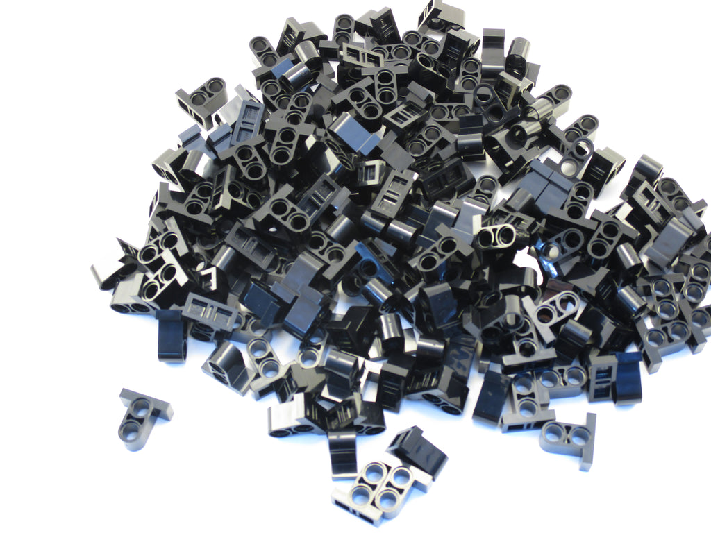 LEGO Black Technic Pin Connector Plate 1x2x1 2/3 2 Holes Lot of 100 Parts Pieces 32530