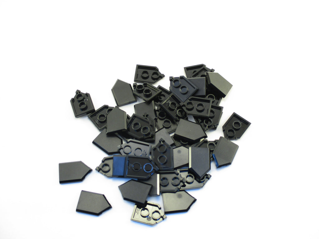 LEGO Black Tile Modified 2x3 Pentagonal Lot of 25 Parts Pieces 22385