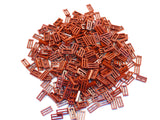 LEGO Dark Red Tile Modified 1x2 Grill Lot of 100 Parts Pieces 2412b