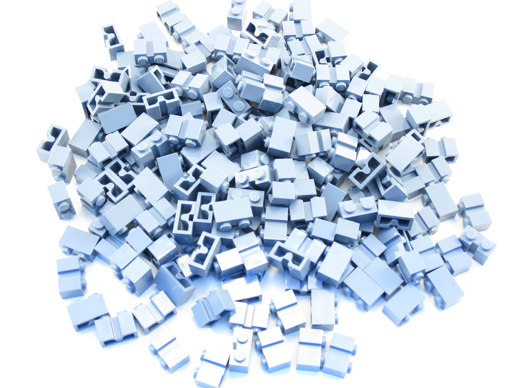 LEGO Dark Blue Plate Modified 2x2 1 Stud in Center Jumper Lot of 100 Parts Piece