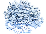 LEGO Sand Blue Brick Modified 1x2 with Groove Lot of 100 Parts Pieces 4216