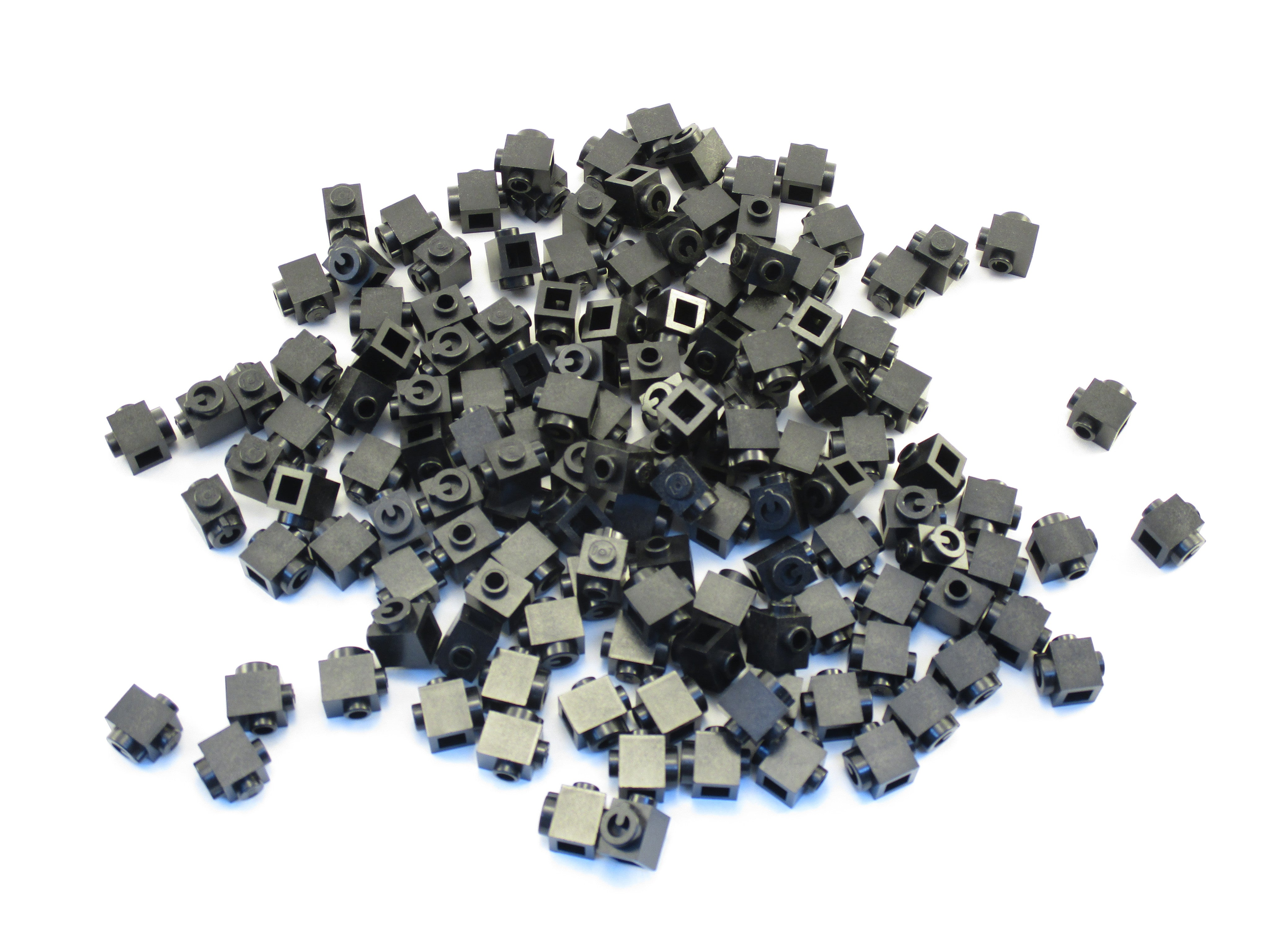 LEGO Black Brick Modified 1x1 Stud on Side Conductive Element AppBrick Lot of 50 Parts Pieces 15411