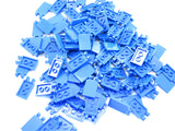 LEGO Blue Tile Modified 2x3 2 Clips Lot of 100 Parts Pieces 30350b