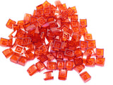 LEGO Trans Red Slope Curved 2x2 Lip No Studs Lot of 100 Parts Pieces 30602