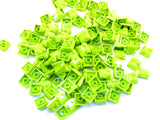LEGO Lime Brick Modified 2x2x2/3 Two Studs Curved Slope End Lot of 100 Parts Pieces 47457