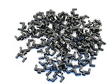 LEGO Black Technic Pin Connector 3L 2 Pins Center Hole Lot of 50 Parts Pieces 15461