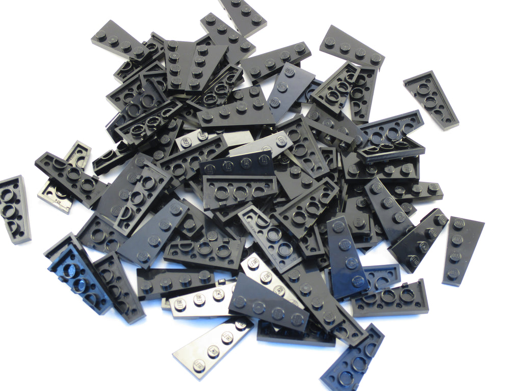 LEGO Black Wedge Plate 4x2 Left Lot of 100 Parts Pieces 41770