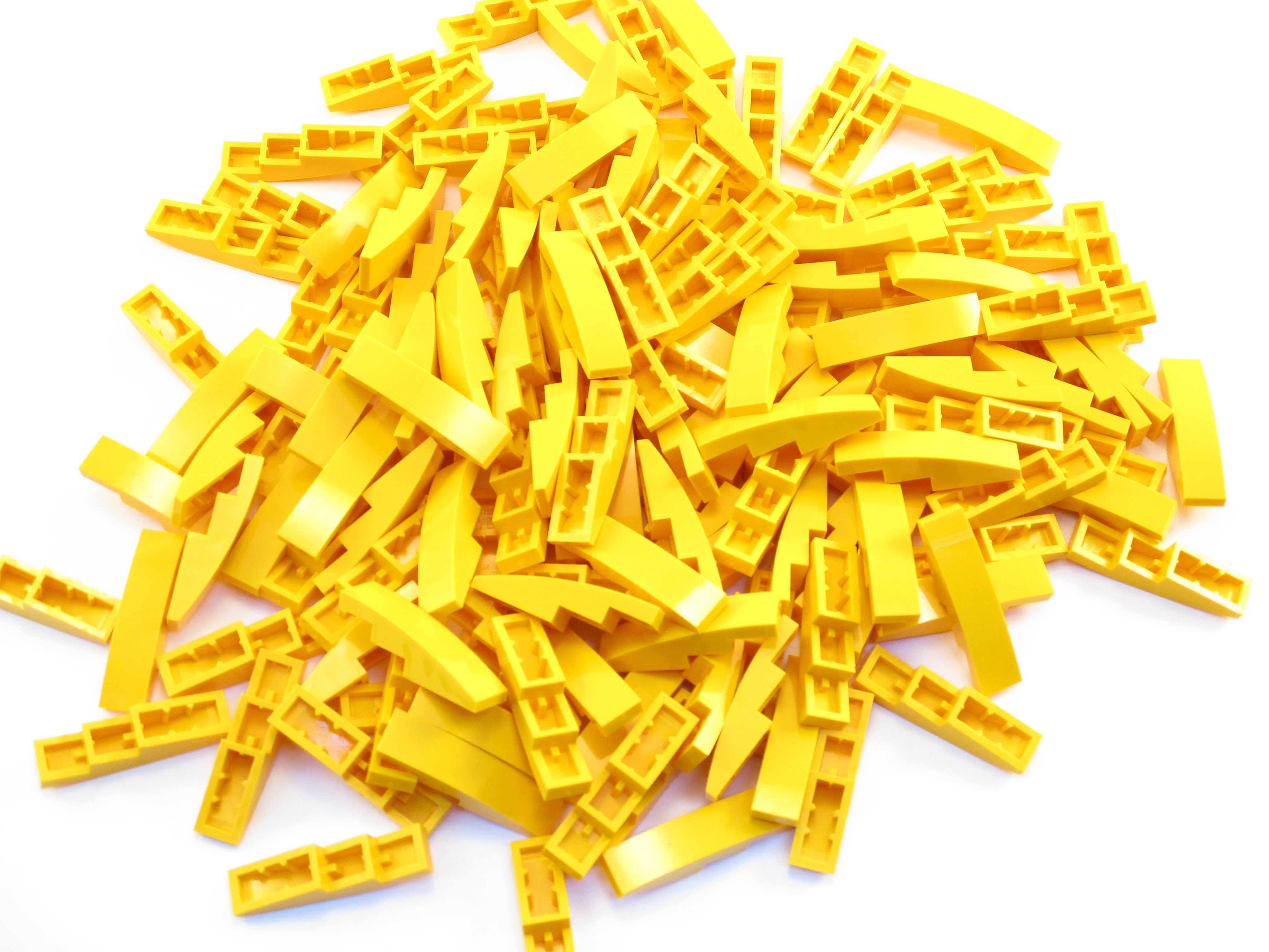 LEGO Bright Light Orange Slope Curved 4x1 No Studs Lot of 100 Parts Pieces 61678