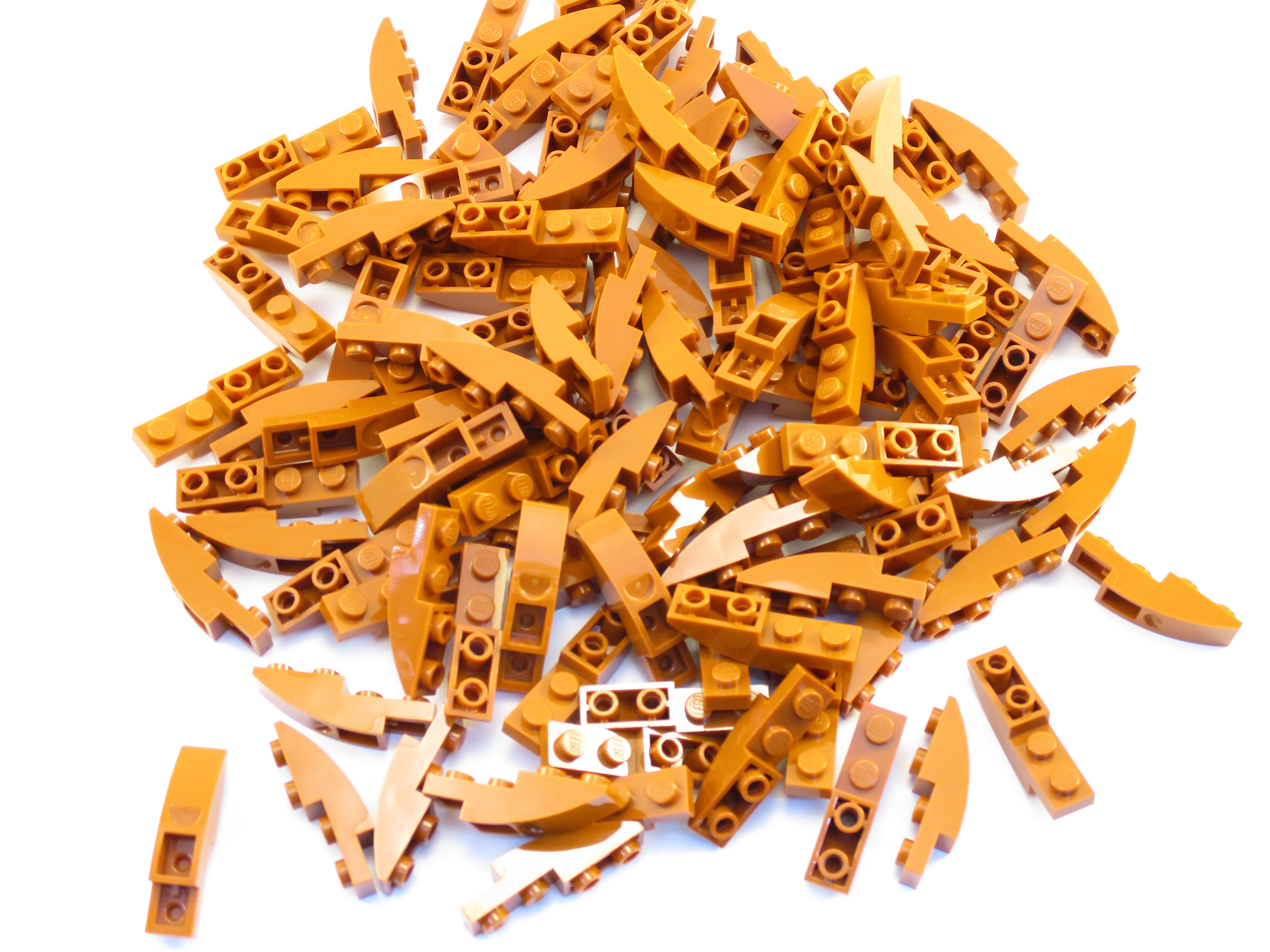LEGO Dark Orange Slope Curved 4x1 Inverted Lot of 100 Parts Pieces 13547