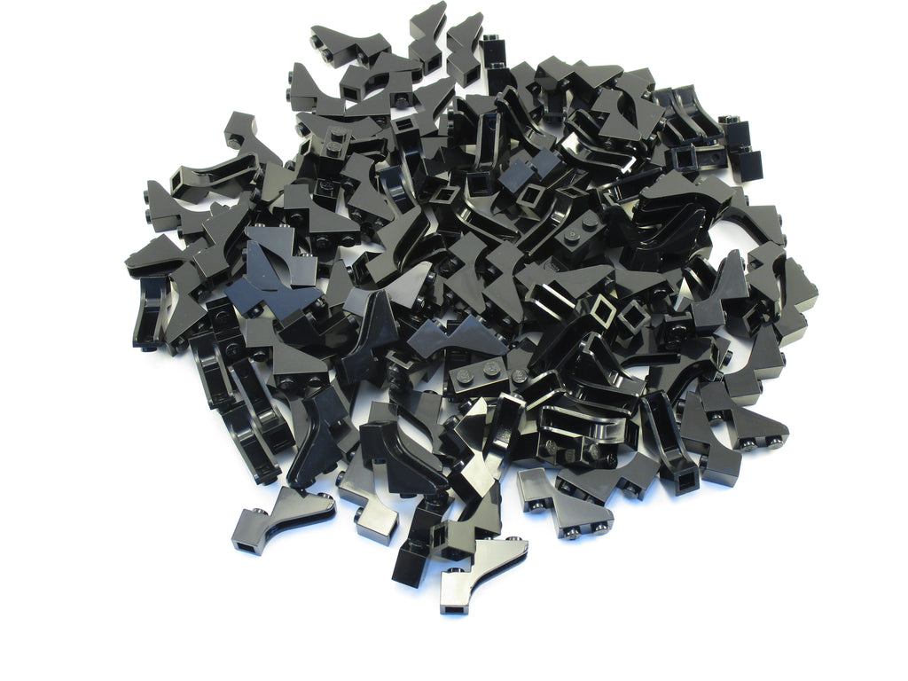 LEGO Black Brick Arch 1x3x2 Lot of 100 Parts Pieces 88292