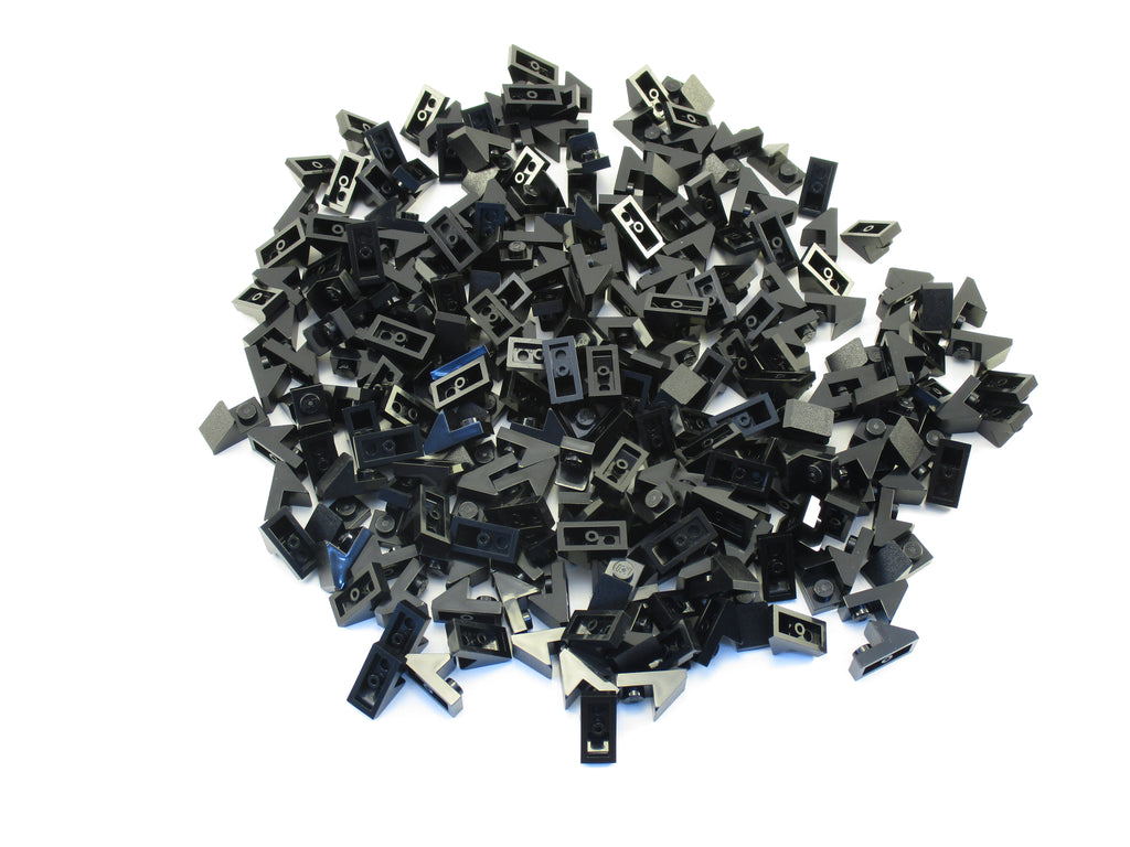 LEGO Black Slope 45 2x1 2/3 Cutout Lot of 100 Parts Pieces 92946