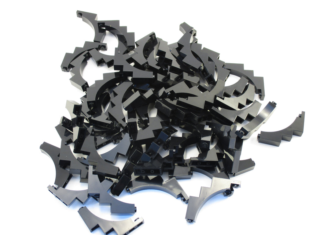 LEGO Black Brick Arch 1x5x4 Inverted Lot of 50 Parts Pieces 30099