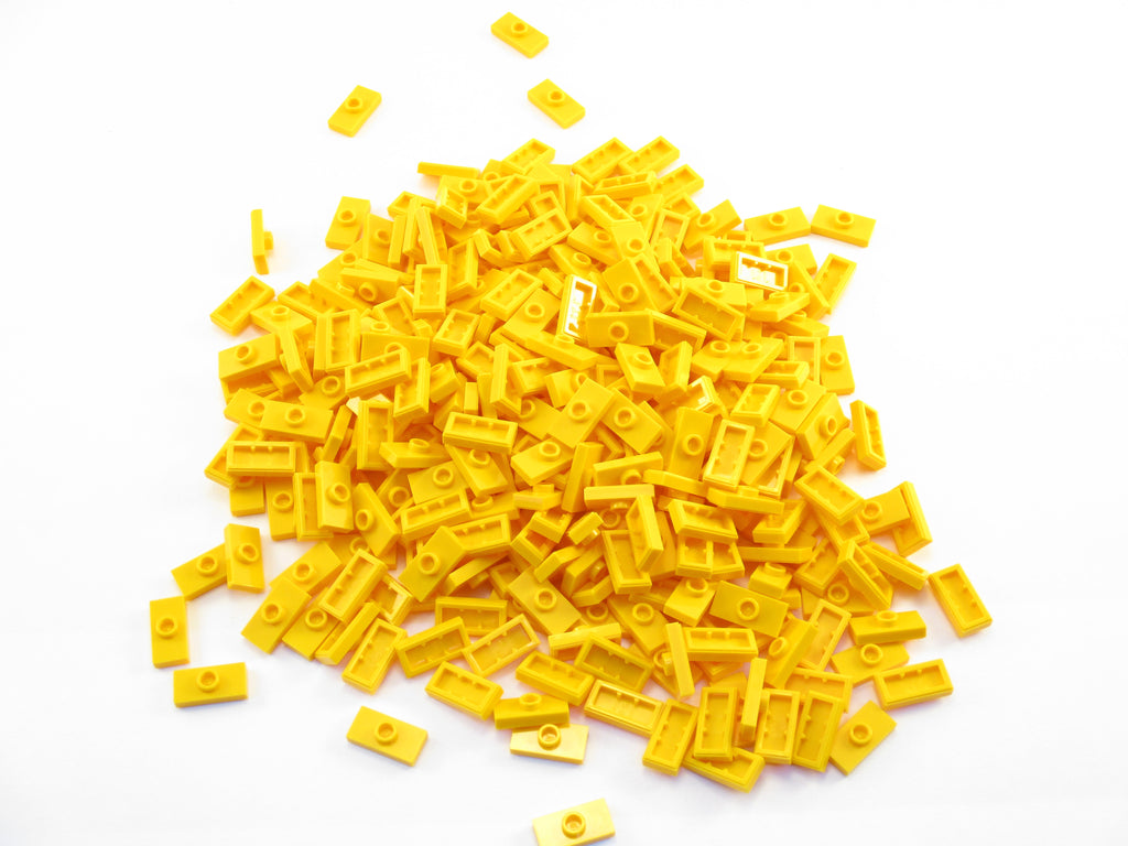 LEGO Bright Light Orange Plate Modified 1x1 Tooth Horizontal Lot of 100 Parts