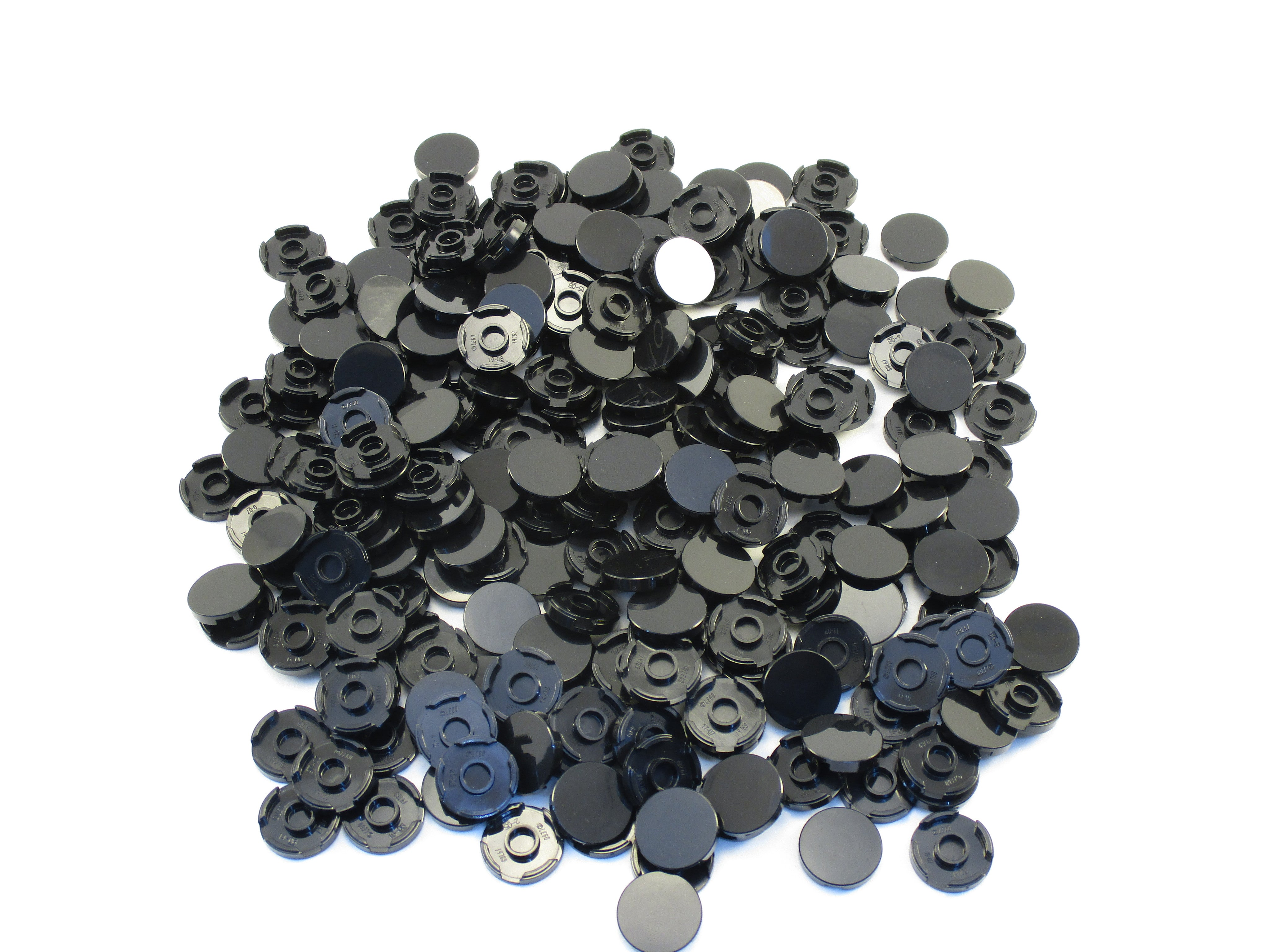 LEGO Black Tile Round 2x2 Lot of 100 Parts Pieces 14769