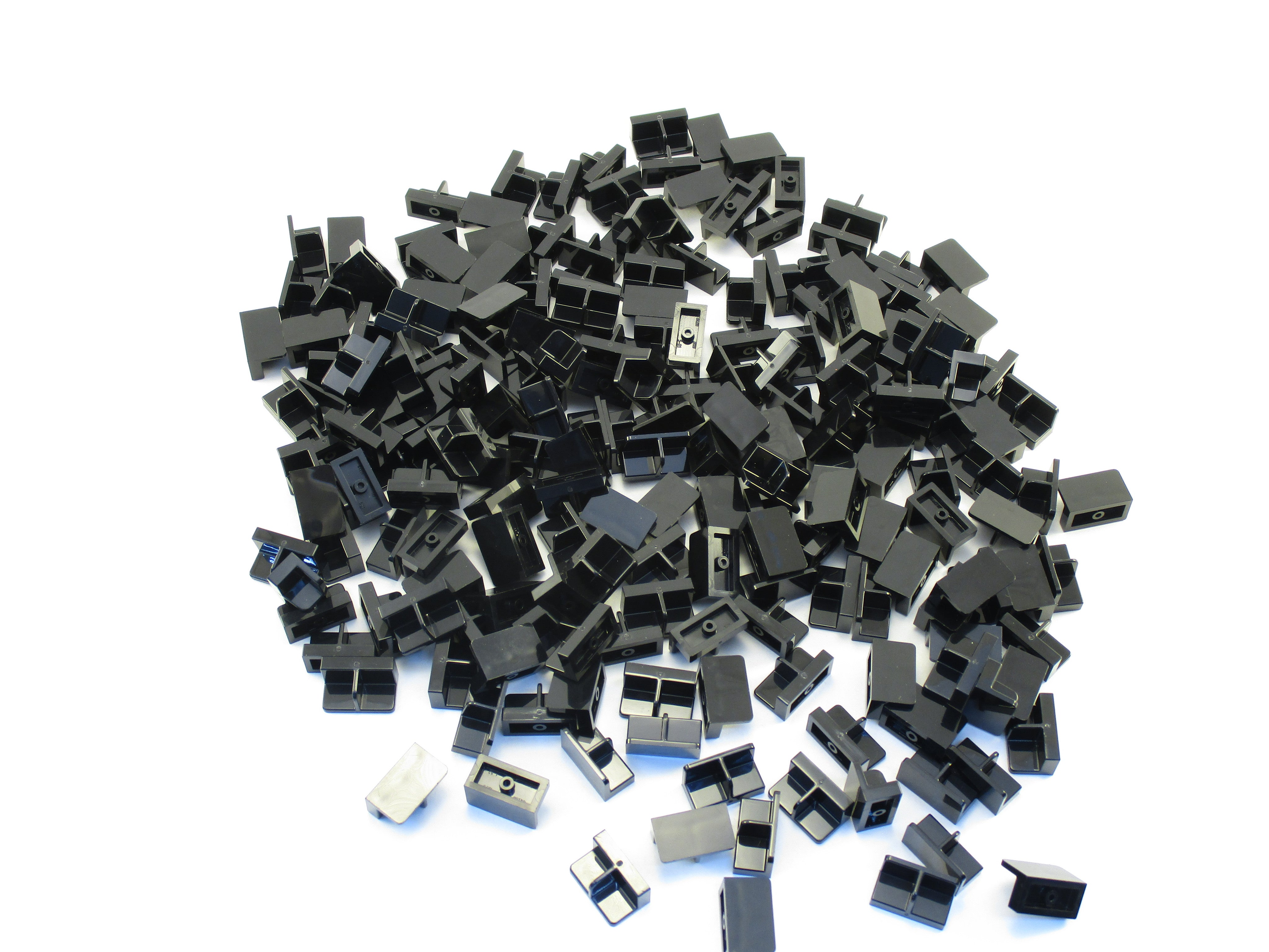 LEGO Black Panel 1x2x1 with Center Divider Lot of 100 Parts Pieces 93095