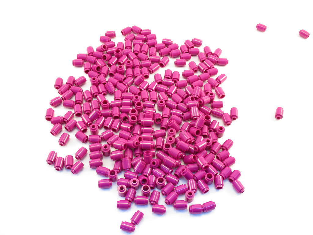 LEGO  Magenta Brick Round 1x1 Open Stud Lot of 100 Parts Pieces 3062b