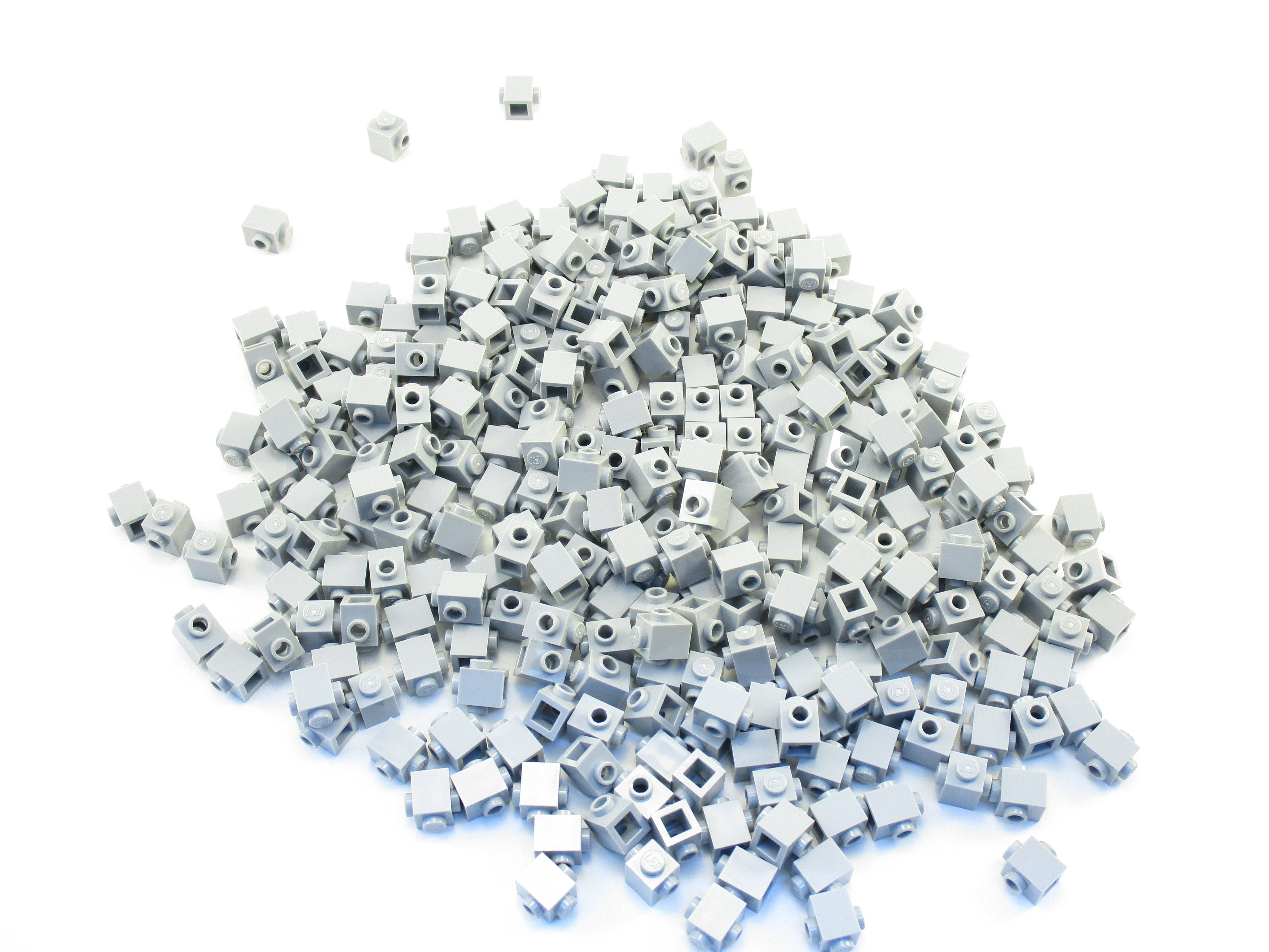 LEGO Light Bluish Gray Brick Modified 1x1 Studs on Opposite Sides Lot of 50 Parts Pieces 47905