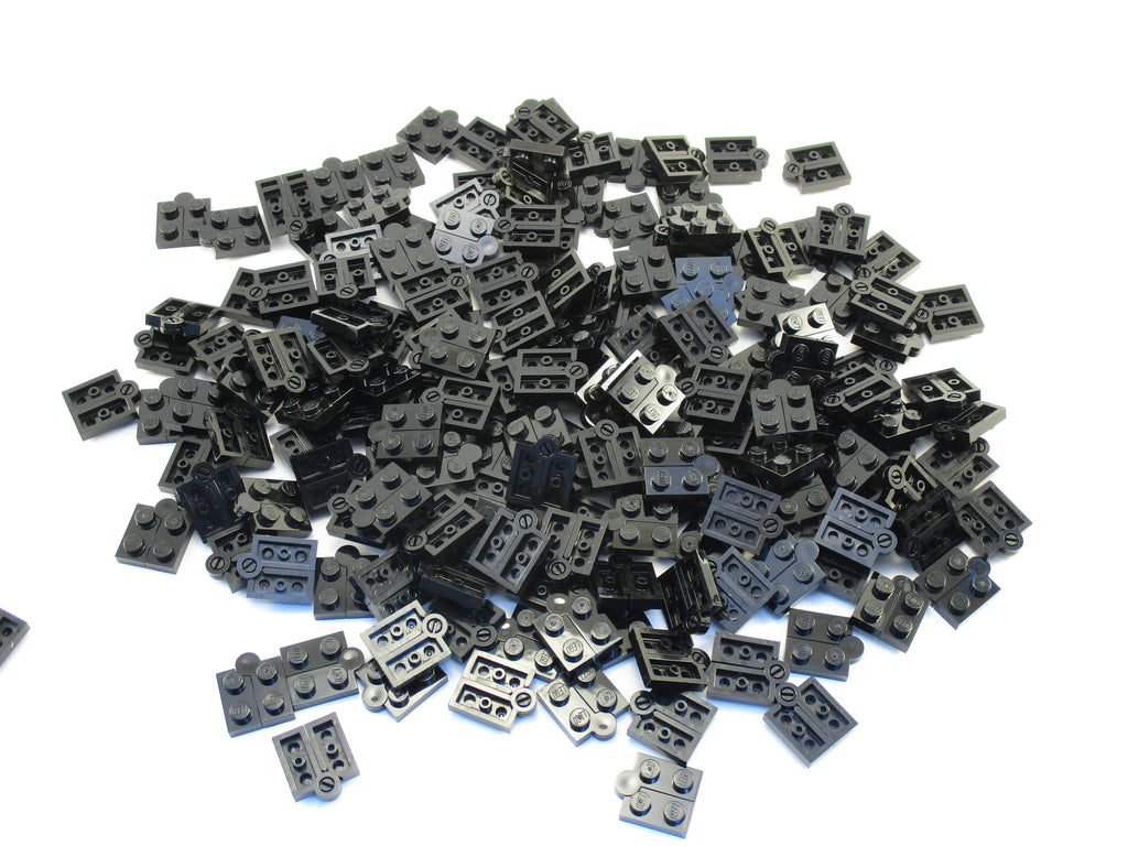 LEGO Black Hinge Plate 1x4 Swivel Top Base Lot of 100 Parts Pieces 2429c01