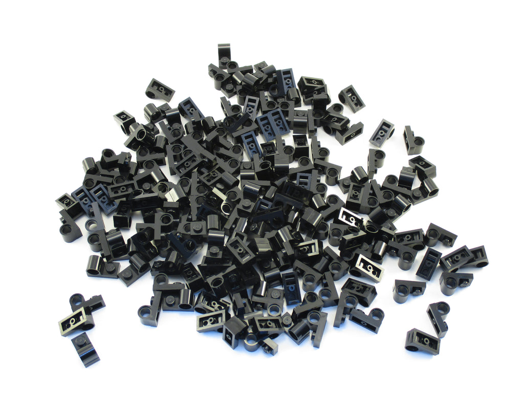 LEGO Black Plate Modified 1x2 Pin Hole on Top Lot of 50 Parts Pieces 11458