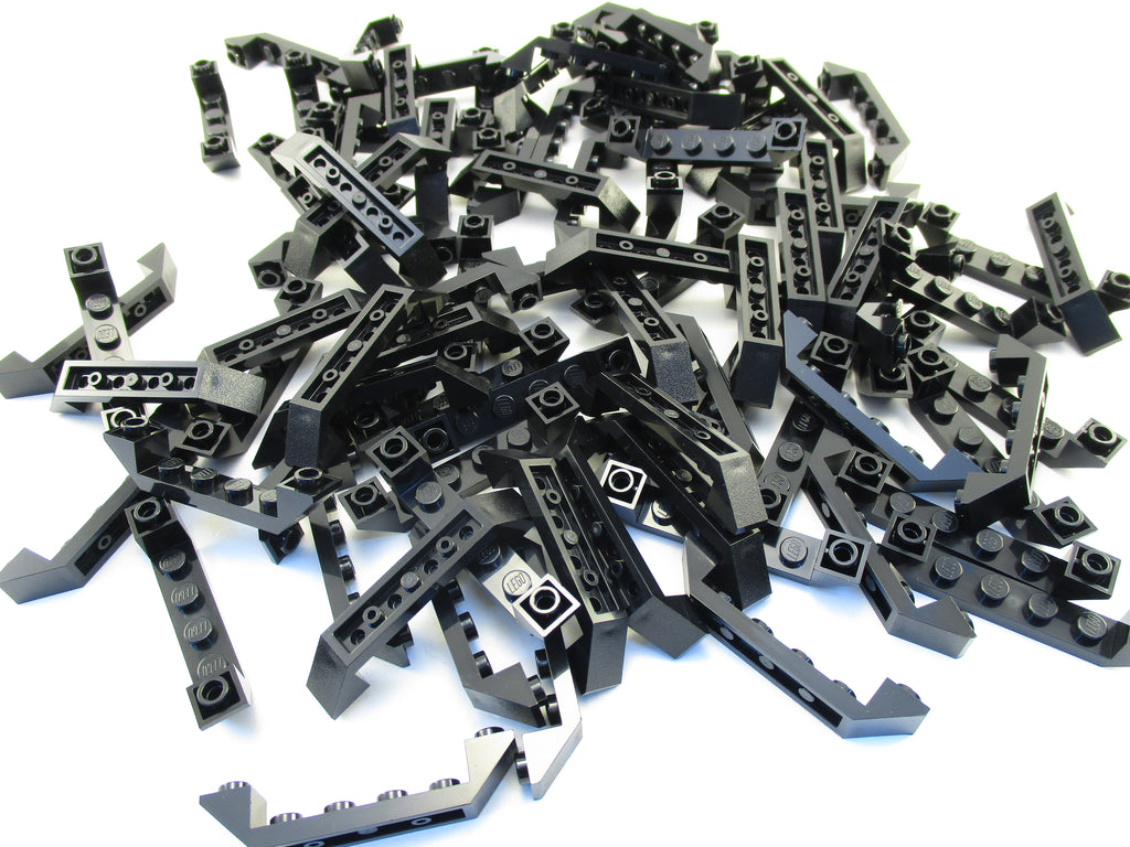 LEGO Black Slope Inverted 45 6x1 Double Cutout Lot of 50 Parts Pieces 52501