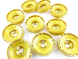 LEGO Pearl Gold Rotor 10 Diameter Lot of 10 Parts Pieces 35775 Ninjago Spinjitzu