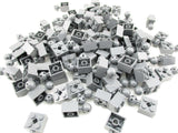 LEGO Dark Bluish Gray Technic Brick Modified 2x2 Ball Axle Hole Lot of 100 Parts Pieces 57909b
