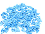 LEGO Dark Azure Wedge Plate 2x2 Right Lot of 100 Parts Pieces 24307