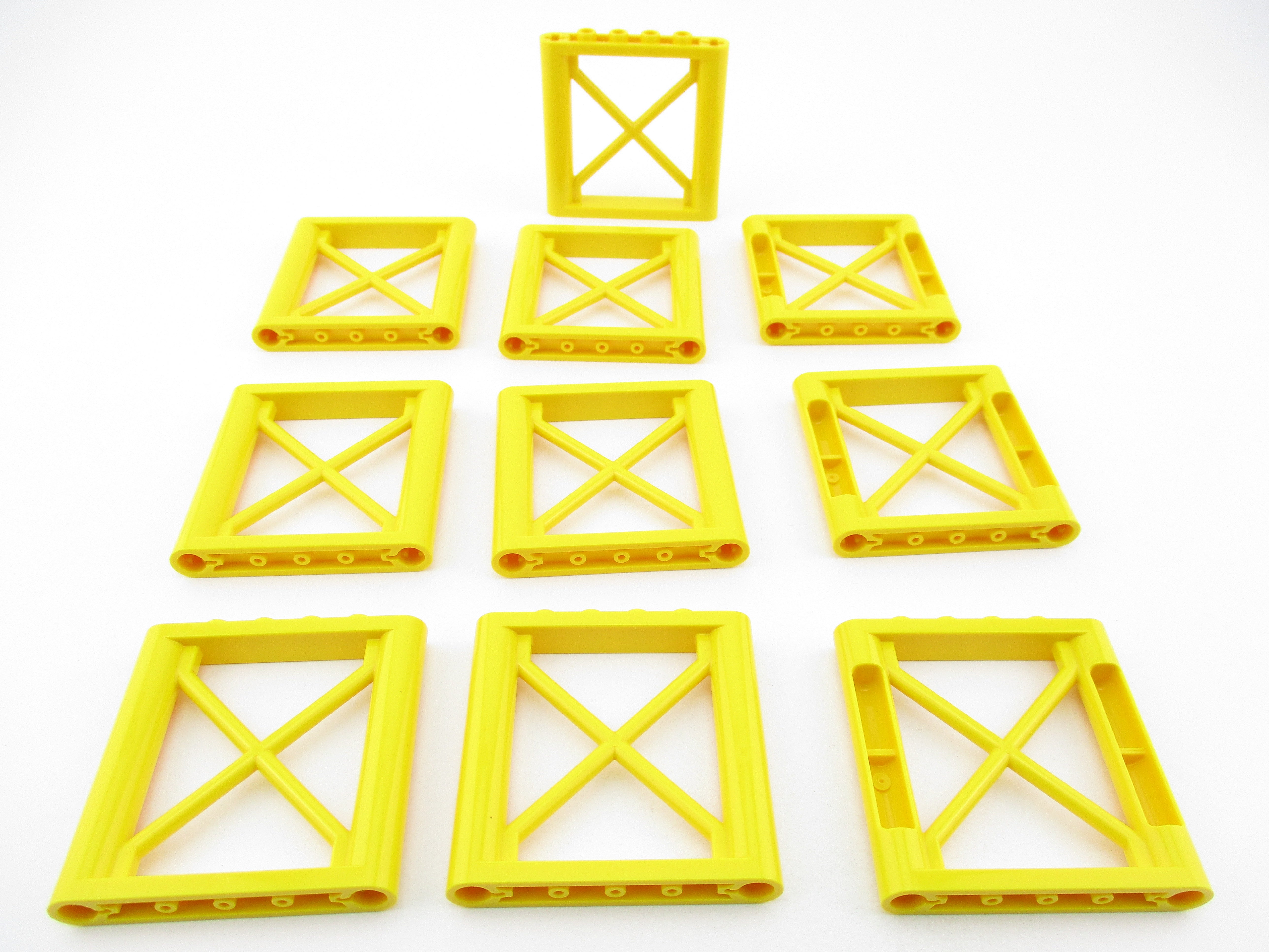 LEGO Yellow Support 1x6x5 Girder Rectangular Lot of 10 Parts Pieces 64448