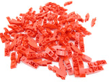 LEGO Red Slope Curved 4x1 Inverted Lot of 100 Parts Pieces 13547
