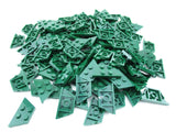 LEGO Dark Green Wedge Plate 2x4 Lot of 100 Parts Pieces 51739