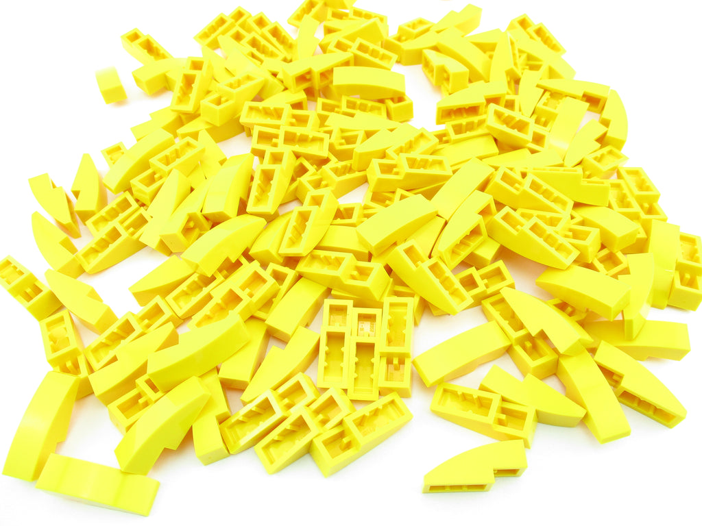 LEGO Yellowish Green Propeller 1 Blade 10L Bar Lot of 50 Parts Pieces 98137