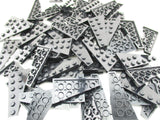 LEGO Black Wedge Plate 6x3 Left Lot of 50 Parts Pieces 54384