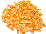 LEGO Orange Slope Curved 2x1 No Studs Lot of 100 Parts Pieces 11477
