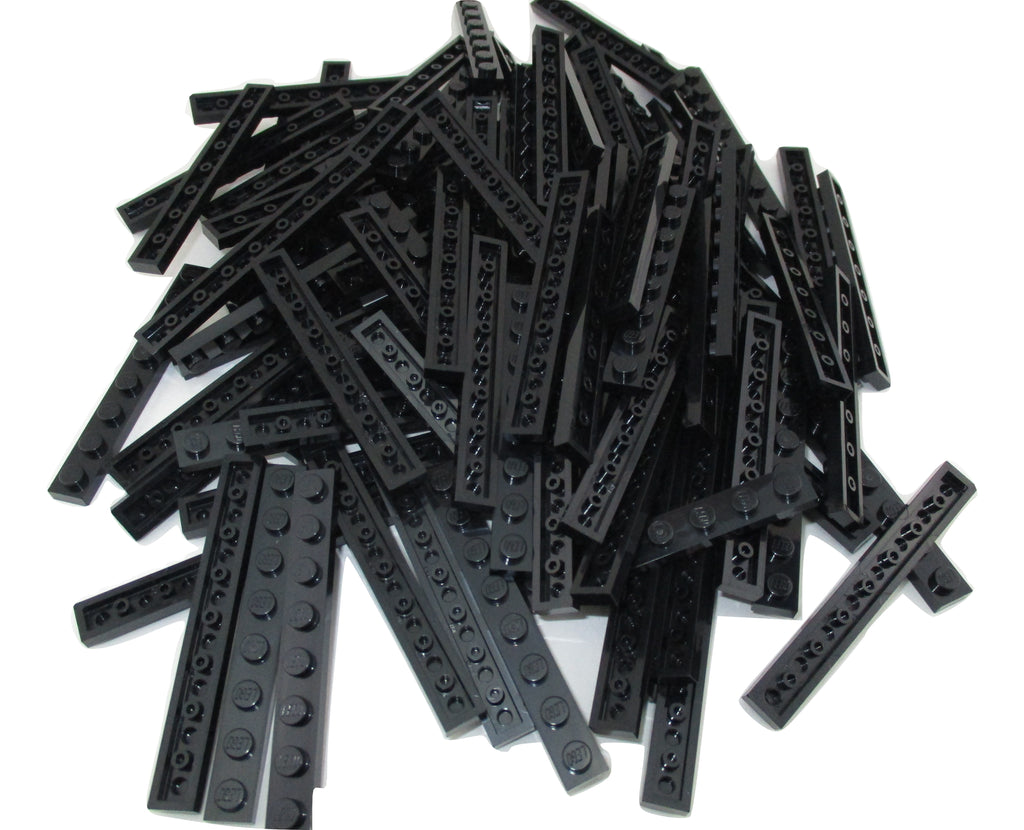 LEGO Black Plate 1x8 Lot of 50 Parts Pieces 3460