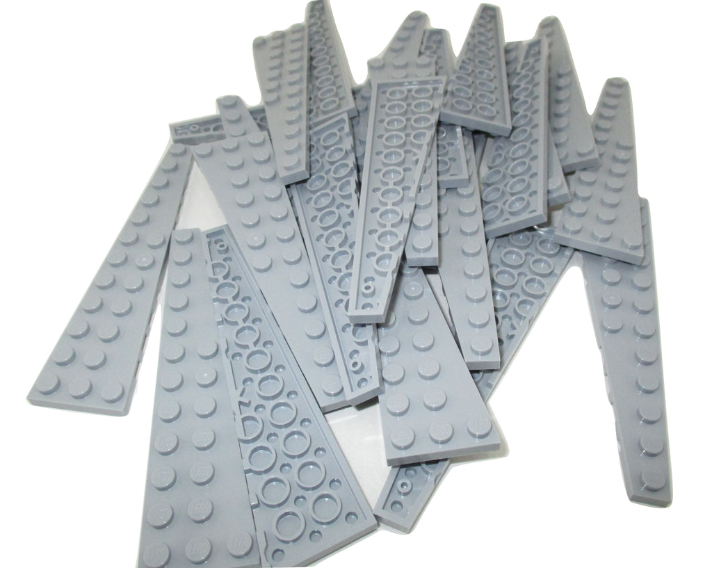 LEGO Light Bluish Gray Wedge Plate 6x3 Left Lot of 50 Parts Pieces 54384